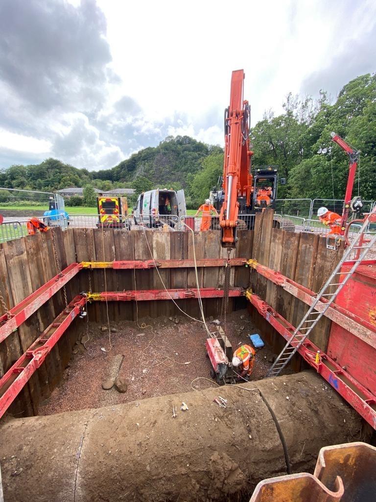 Investment work at Ynys Bridge