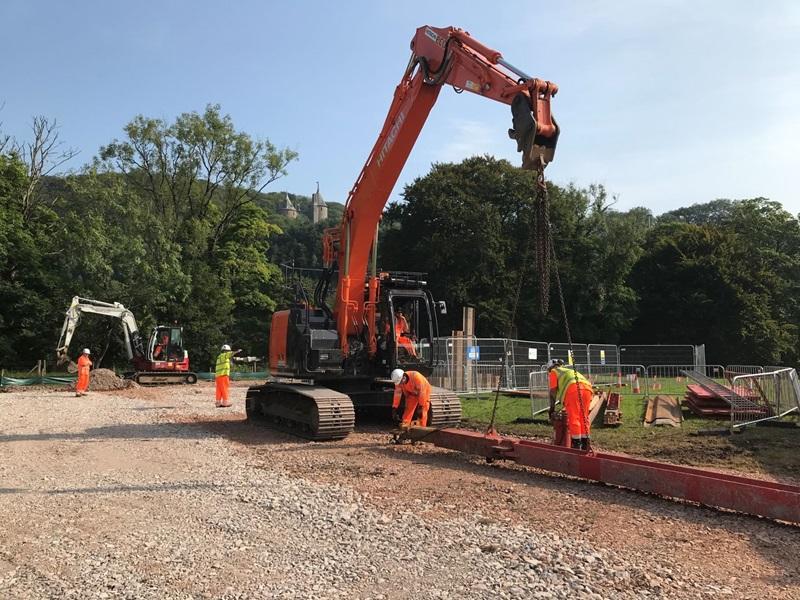 Work at Ynys Bridge